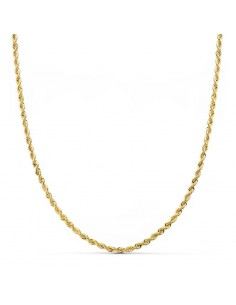 Collier Maille Corde 1.65 mm (50cm) - Or jaune 18 Carats
