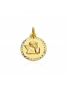Médaille Ange Or Jaune 9 Carats